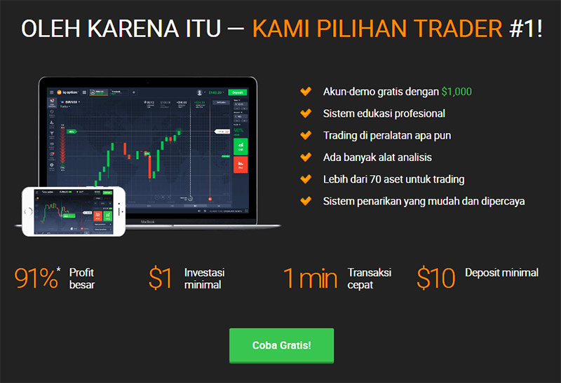 Cara main IQ Option tanpa modal
